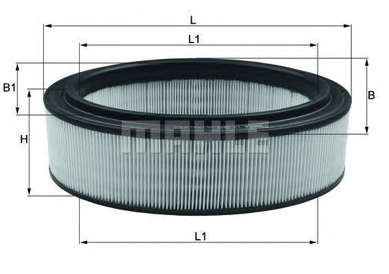 Элемент фильтрующий воздушного фильтра MAHLE LX 2844 S0322 (C 2672/1). (LX2844)