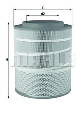 Элемент фильтрующий воздушного фильтра MAHLE LX 3141 D0322. (LX3141)
