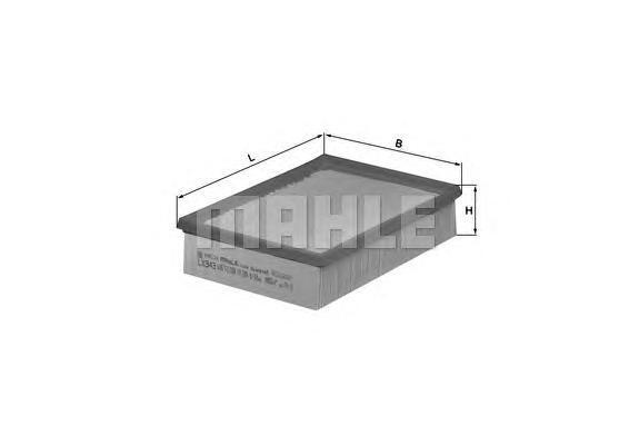 Элемент фильтрующий воздушного фильтра MAHLE LX 343 S0322 (C 25 114). (LX343)