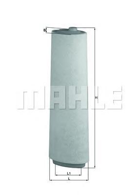 Элемент фильтрующий воздушного фильтра MAHLE LX 818 S0322 (C 15 143/1). (LX818)