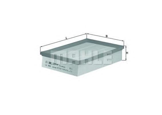 Элемент фильтрующий воздушного фильтра MAHLE LX 935 S0322 (C 28 100). (LX935)