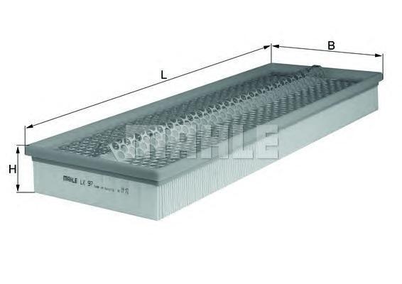Элемент фильтрующий воздушного фильтра MAHLE LX 97 S0322 (C 48 183). (LX97)