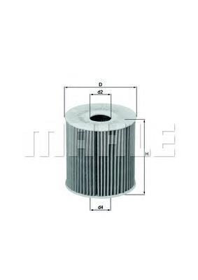 Элемент фильтрующий масляного фильтра MAHLE OX 149D ECO S0322 (HU 819 x). (OX149D)
