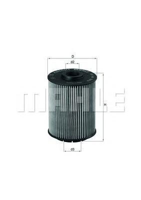 Элемент фильтрующий масляного фильтра MAHLE OX 160D ECO S0322 (HU 932/6 n). (OX160D)