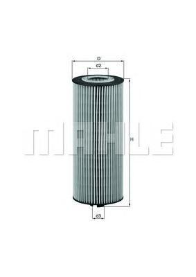 Элемент фильтрующий масляного фильтра MAHLE OX 174D ECO Z0322 (HU 945/2 x)(HU 945/3 x). (OX174D)