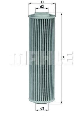 Фильтр масляный. Mahle (OX183/5D)