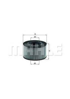 Элемент фильтрующий масляного фильтра MAHLE OX 191D ECO S0322 (HU 920 x). (OX191D)