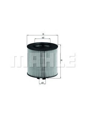 Элемент фильтрующий масляного фильтра MAHLE OX 341D ECO Z0322 (HU 712/6 x). (OX341D)