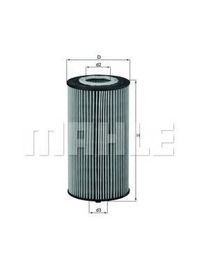 Элемент фильтрующий масляного фильтра MAHLE OX 358D ECO Z0322 (HU 835/1 z). (OX358D)
