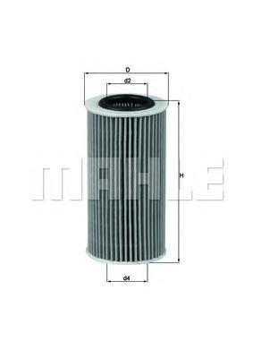 Элемент фильтрующий масляного фильтра MAHLE OX 370D ECO S0322 (HU 719/8 x). (OX370D)