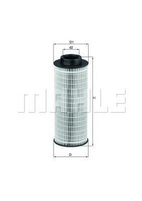Элемент фильтрующий масляного фильтра MAHLE OX 376D ECO Z0322 (HU 1072 x). (OX376D)