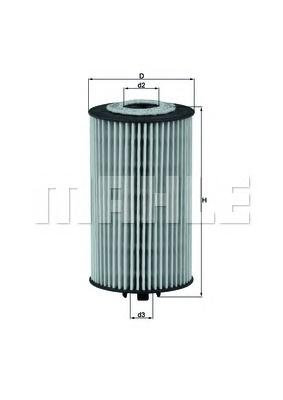 Элемент фильтрующий масляного фильтра MAHLE OX 401D ECO Z0322 (HU 612/2 x). (OX401D)