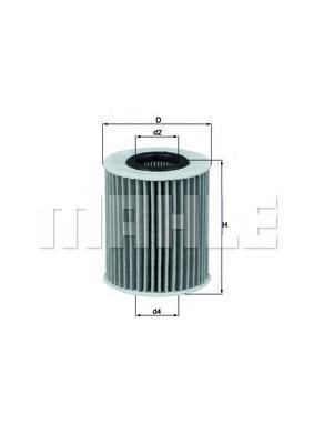 Элемент фильтрующий масляного фильтра MAHLE OX 413D1 ECO S0322 (HU 7009 z). (OX413D1)