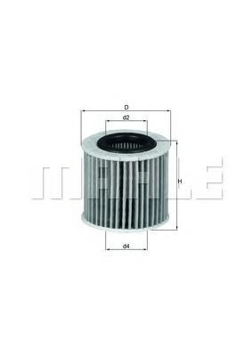 Элемент фильтрующий масляного фильтра MAHLE OX 416D2 ECO S0322. (OX416D2)