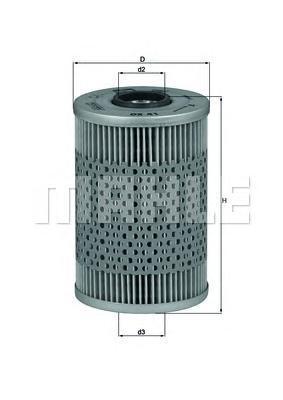 Элемент фильтрующий масляного фильтра MAHLE OX 41D ECO S0322. (OX41D)