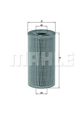 Элемент фильтрующий масляного фильтра MAHLE OX 441D ECO Z0322 (HU 618 x). (OX441D)