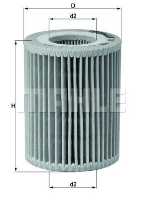 Элемент фильтрующий масляного фильтра MAHLE OX 825D ECO Z0322 (HU 7003 x). (OX825D)