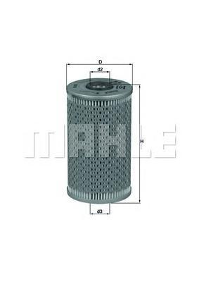 Элемент фильтрующий масляного фильтра MAHLE OX 96D ECO S0322 (HU 938/1 x). (OX96D)