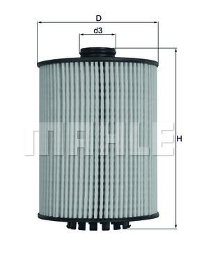 Элемент фильтрующий масляного фильтра MAHLE OX 983D ECO Z0322 (HU 8009 z). (OX983D)