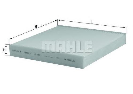 Элемент фильтрующий салонного фильтра MAHLE LA 462 S0322 (CU 21 003). (LA462)