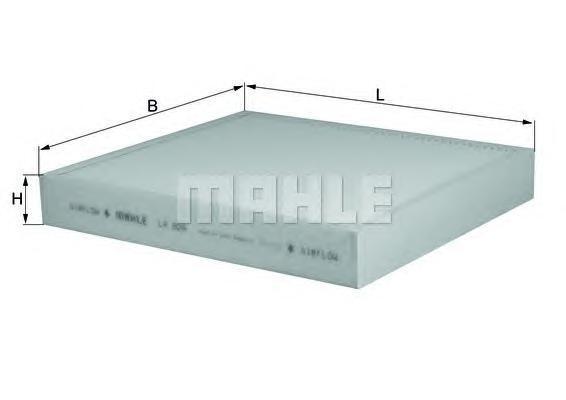 Элемент фильтрующий салонного фильтра MAHLE LA 809 Z0322 (CU 26010). (LA809)