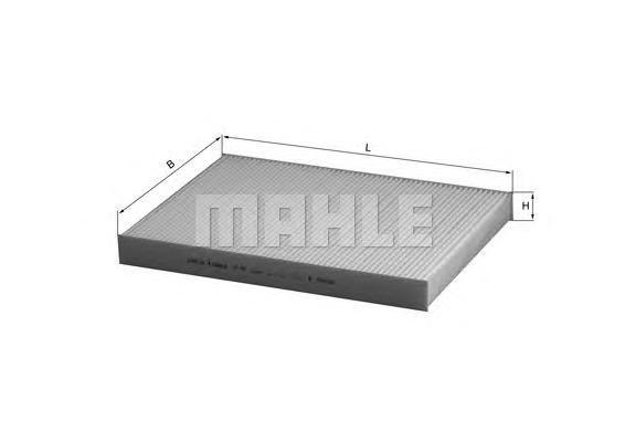 Элемент фильтрующий салонного фильтра MAHLE LA 93 S0322 (CU 3037). (LA93)