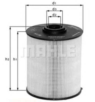 Элемент фильтрующий топливного фильтра MAHLE KX 182D ECO S0322 (PU 941/1 x). (KX182D)
