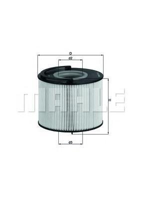 Элемент фильтрующий топливного фильтра MAHLE KX 192D Z0322 (PU 1033 x). (KX192D)