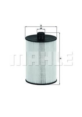 Элемент фильтрующий топливного фильтра MAHLE KX 226D ECO S0322 (PU 823 x). (KX226D)