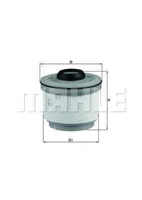 Элемент фильтрующий топливного фильтра MAHLE KX 268D ECO Z0322. (KX268D)
