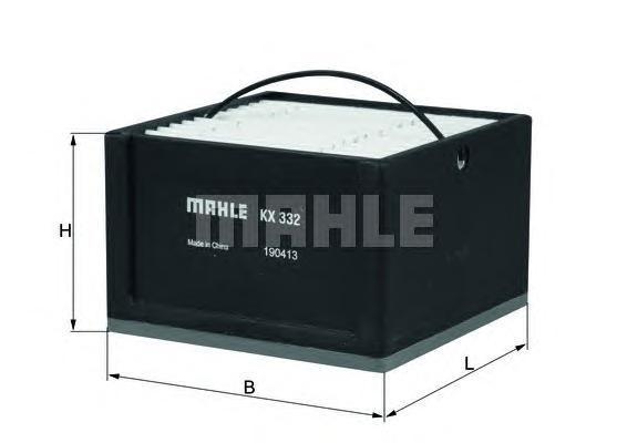 Элемент фильтрующий топливного фильтра MAHLE KX 332 ECO Z0322 (PU 911). (KX332)