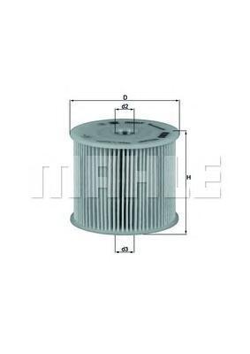 Элемент фильтрующий топливного фильтра MAHLE KX 85D ECO S0322 (PU 830 x). (KX85D)