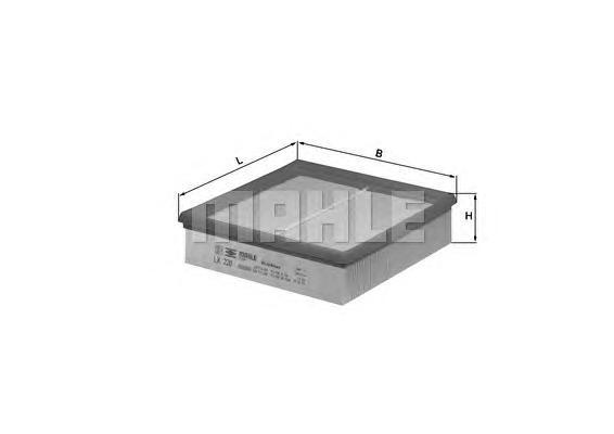 Элемент фильтрующий воздушного фильтра LX 220 S0044,S0322 (C 22 117) ( 2108 ). Mahle (LX220)