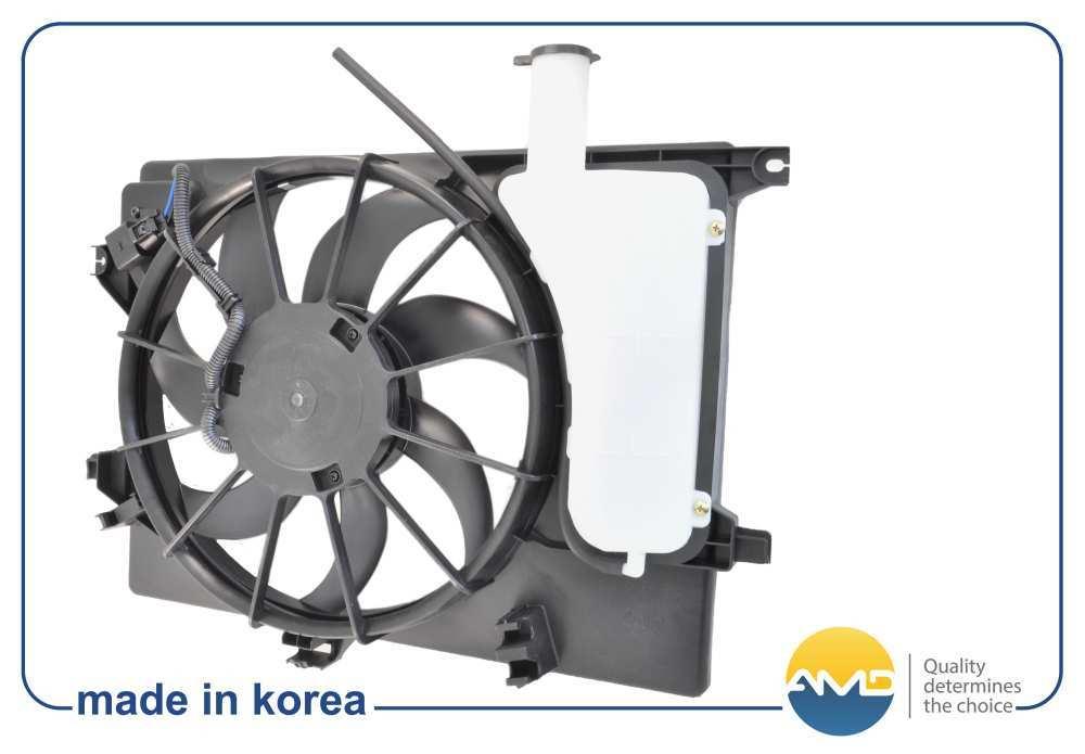 Вентилятор охлаждения двигателя FCU128 253803X000/AMDHYUNDAI (Elantra MD,UD) (2011-) I30 (12-). (AMD.FCU128)