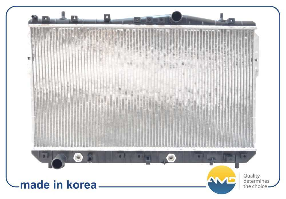 Радиатор охлаждения R124 96553243/AMD. CHEVROLET (Lacetti (KLAN) хэтчбек 1.4-1.8 A/T). (AMD.R124)