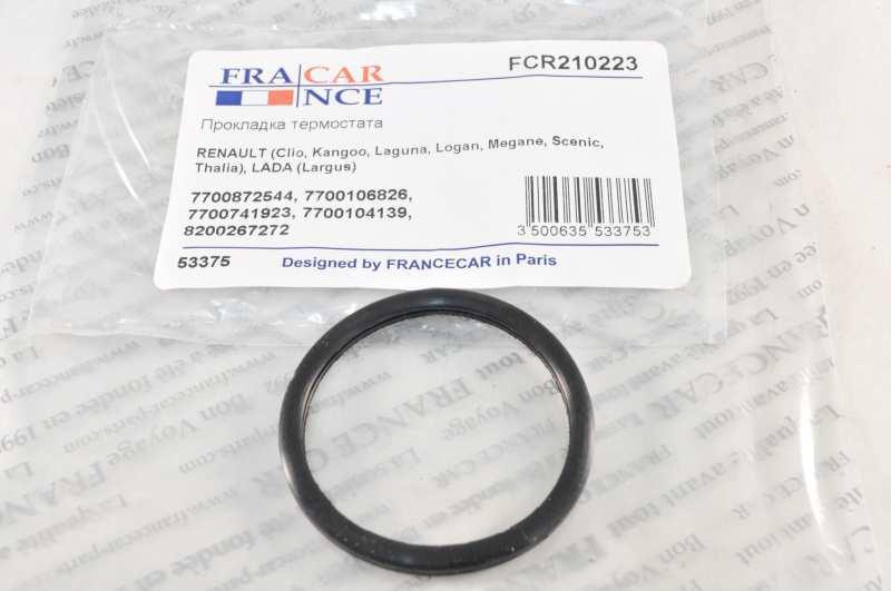 Прокладка термостата FCR210223 8200267272FRANCECAR. RENAULT Clio,Kangoo,Laguna,Logan,ЛАДА ЛАРГУС