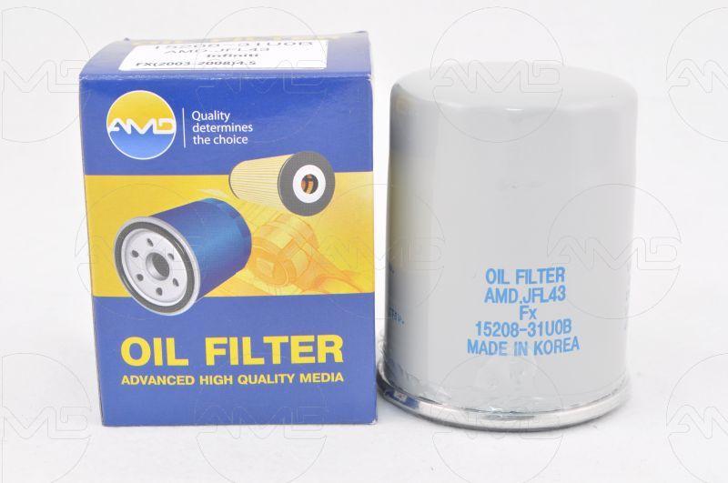 Фильтр масляный JFL43 1520831U0B/AMD.INFINITI (FX) (-2008) (4,5). (AMD.JFL43)