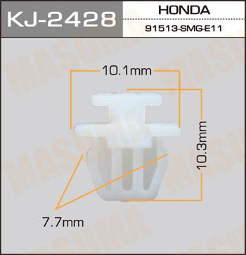 Клипса автомобильная (автокрепеж) MASUMA 2428-KJ [уп.50]. (KJ-2428)