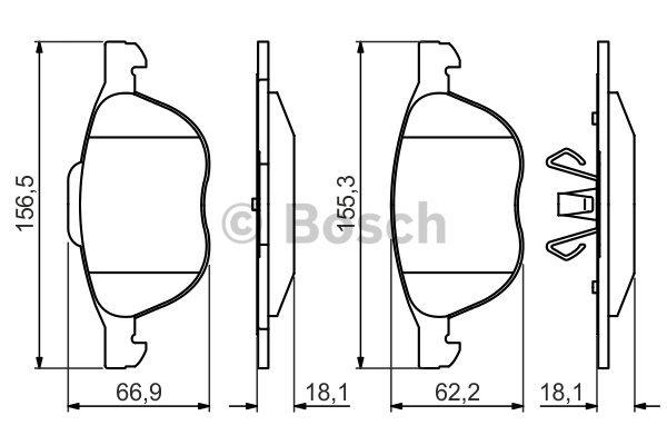 ТОРМОЗНЫЕ КОЛОДКИ. Bosch (0986495215)