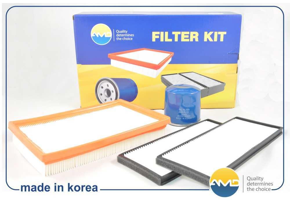 Комплект фильтров масл.2630035503 + возд.2811322600 + салон.976171C000. AMD (AMDSETF22)