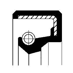 Сальник водяного насоса 15x35x7. Corteco (12010796B)