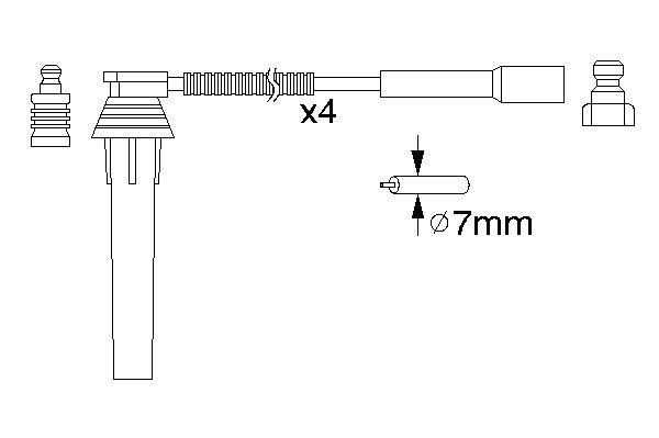 КОМПЛЕКТ ВВ. ПРОВОДОВ ГАЗ/CHRYSLER 2.4. Bosch (0986357052)