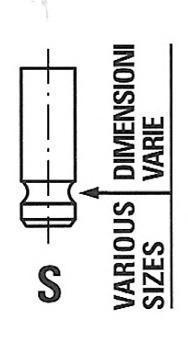 Клапан двигателя выпускной. Freccia (R6404/RNT)