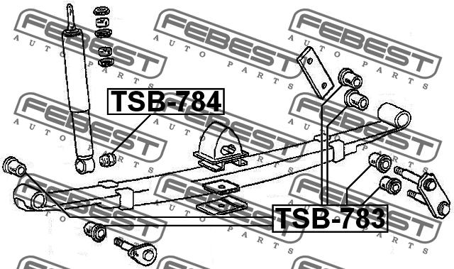 ВТУЛКА РЕССОРЫ. Febest (TSB-783)