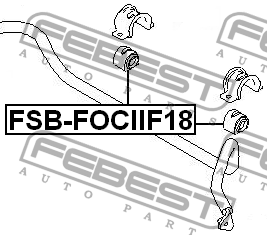 ВТУЛКА ПЕРЕДНЕГО СТАБИЛИЗАТОРА D18.5. Febest (FSBFOCIIF18)