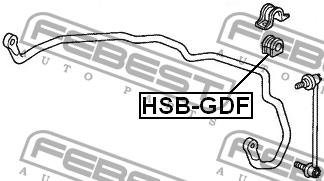ВТУЛКА ПЕРЕДНЕГО СТАБИЛИЗАТОРА D22. Febest (HSB-GDF)