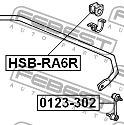ВТУЛКА ЗАДНЕГО СТАБИЛИЗАТОРА D25.4. Febest (HSBRA6R)