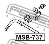ВТУЛКА ЗАДНЕГО СТАБИЛИЗАТОРА D15. Febest (MSB737)