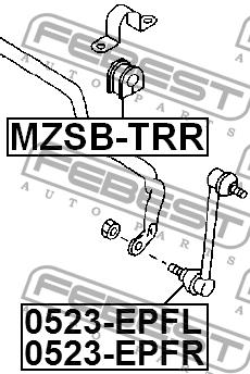 ВТУЛКА ЗАДНЕГО СТАБИЛИЗАТОРА D16.3. Febest (MZSBTRR)