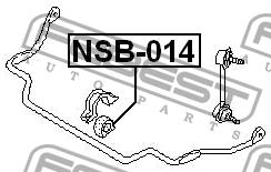 ВТУЛКА ПЕРЕДНЕГО СТАБИЛИЗАТОРА D25. Febest (NSB-014)